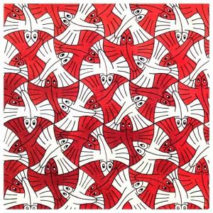 Vliegende vissen van M.C. Escher